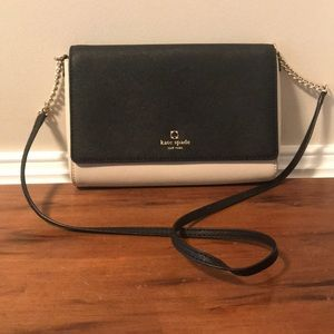 Kate Spade black/cream shoulder bag/cross body